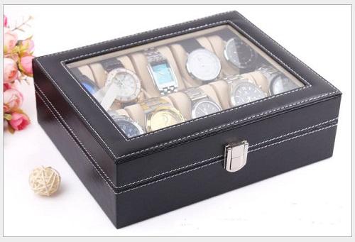 Hộp đựng đồng hồ da 10 chiếc thông dụng và phù hợp với số lượng đồng hồ của một người sành chơi đồng hồ