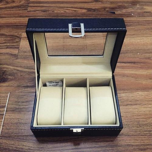 Hộp đựng đồng hồ bằng da 3 chiếc dành cho cá nhân