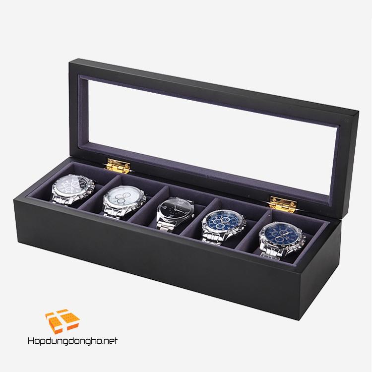 Review hộp đựng đồng hồ lót nhung - Hình 1