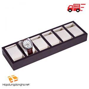 Khay Đựng Đồng Hồ 6 Ngăn Bằng Gỗ Mã 306 - Khay đựng đồng hồ bằng gỗ - Hình 1