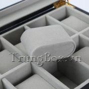 Hộp Đựng Đồng Hồ 20 Ngăn Vỏ Gỗ Sơn Mài Đen - Mã 540   TrungBox - Hình 7