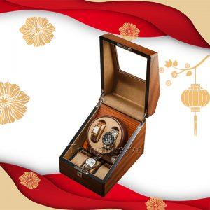 Hộp Lắc Đồng Hồ 2 Cơ 3 Trưng Bày Vỏ Gỗ Veneer Cao Cấp - Mã 823V | TrungBox - Hình 1
