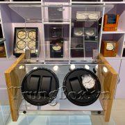 Hộp Đựng Đồng Hồ Cơ 4 Xoay Vỏ Gỗ Tre - Mã 840BAB   TrungBox - Hình 4