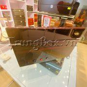 Hộp Đựng Đồng Hồ Cơ 4 Xoay 6 Tĩnh Vỏ Gỗ Sơn Mài (Đèn LED) - Mã 846KEW   TrungBox - Hình 7