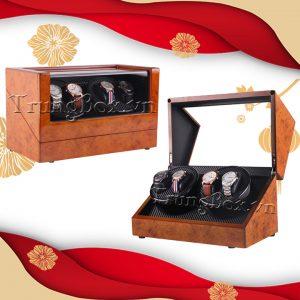 Hộp Xoay Đồng Hồ 4 Cơ Vỏ Gỗ Sơn Mài - Mã 840HT | TrungBox - Hình 1