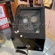 Hộp Lắc Đồng Hồ 2 Cơ 3 Trưng Bày Vỏ Gỗ Sơn Mài (Đèn LED) - Mã 823BB   TrungBox - Hình 5