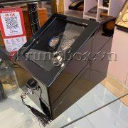 Hộp Lắc Đồng Hồ 2 Cơ 3 Trưng Bày Vỏ Gỗ Sơn Mài (Đèn LED) - Mã 823BB   TrungBox - Hình 6