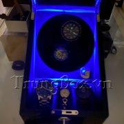 Hộp Lắc Đồng Hồ 2 Cơ 3 Trưng Bày Vỏ Gỗ Sơn Mài (Đèn LED) - Mã 823BB   TrungBox - Hình 9