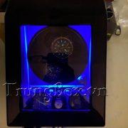 Hộp Lắc Đồng Hồ 2 Cơ 3 Trưng Bày Vỏ Gỗ Sơn Mài (Đèn LED) - Mã 823EW | TrungBox - Hình 10