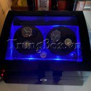 Hộp Đựng Đồng Hồ Cơ 4 Xoay 6 Tĩnh Vỏ Gỗ Sơn Mài (Đèn LED) - Mã 846KBT   TrungBox - Hình 10