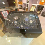 Hộp Đựng Đồng Hồ Cơ 4 Xoay 6 Tĩnh Vỏ Gỗ Sơn Mài (Đèn LED) - Mã 846KBT   TrungBox - Hình 5