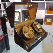 Hộp Xoay Đồng Hồ 4 Cơ Vỏ Gỗ Sơn Mài (Đèn LED) - Mã 840KEC   TrungBox - Hình 4