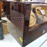 Hộp Xoay Đồng Hồ 4 Cơ Vỏ Gỗ Sơn Mài (Đèn LED) - Mã 840KEC   TrungBox - Hình 6