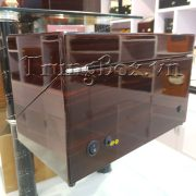 Hộp Xoay Đồng Hồ 4 Cơ Vỏ Gỗ Sơn Mài (Đèn LED) - Mã 840KEC   TrungBox - Hình 9